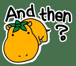 Orange Hippo sticker #285876