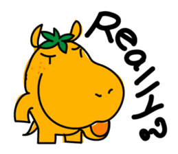 Orange Hippo sticker #285878
