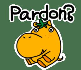 Orange Hippo sticker #285880