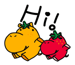 Orange Hippo sticker #285881