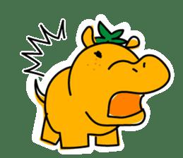 Orange Hippo sticker #285882