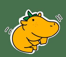 Orange Hippo sticker #285883