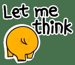 Orange Hippo sticker #285887
