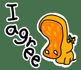 Orange Hippo sticker #285888