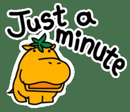 Orange Hippo sticker #285889