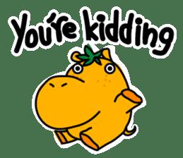 Orange Hippo sticker #285890