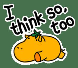 Orange Hippo sticker #285891