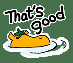 Orange Hippo sticker #285895