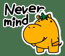 Orange Hippo sticker #285896