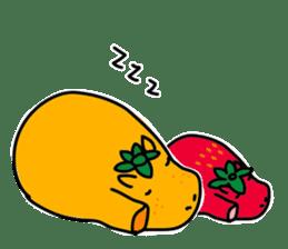 Orange Hippo sticker #285897