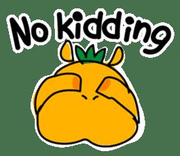 Orange Hippo sticker #285900