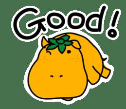 Orange Hippo sticker #285901