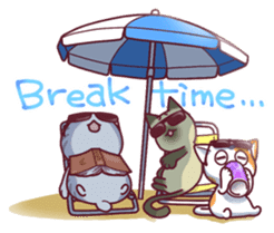 Nyagoes in summer(english edition) sticker #285963