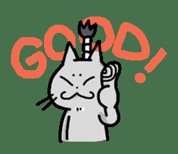 The Samurai Cat English sticker #286185