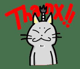 The Samurai Cat English sticker #286187