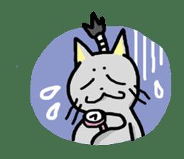 The Samurai Cat English sticker #286198