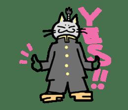 The Samurai Cat English sticker #286199