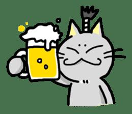 The Samurai Cat English sticker #286204