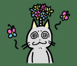 The Samurai Cat English sticker #286206
