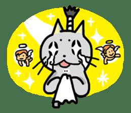 The Samurai Cat English sticker #286209