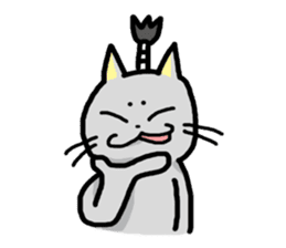 The Samurai Cat English sticker #286210