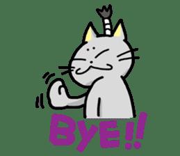 The Samurai Cat English sticker #286217