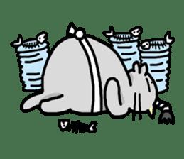 The Samurai Cat English sticker #286223