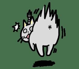 The Samurai Cat English sticker #286224