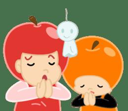 Apple & Orange sticker #286274