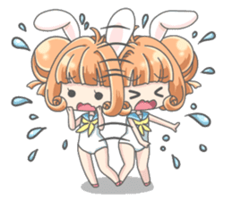 Personification girls of animal sticker #286766