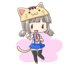 Personification girls of animal sticker #286775