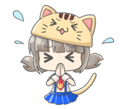 Personification girls of animal sticker #286777