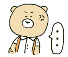Angry bear sticker #288709
