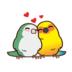 Miss Lovebird-Cute Bird in Valentine