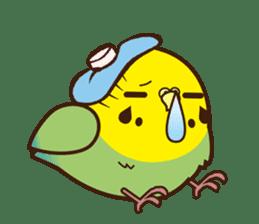 Miss Lovebird-Cute Bird in Valentine sticker #290592