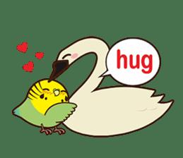 Miss Lovebird-Cute Bird in Valentine sticker #290593