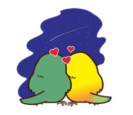 Miss Lovebird-Cute Bird in Valentine sticker #290595