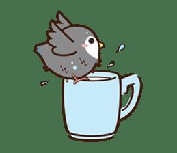 Miss Lovebird-Cute Bird in Valentine sticker #290597