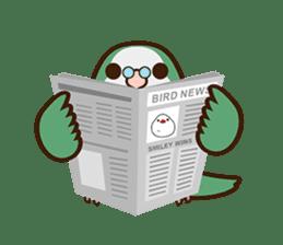 Miss Lovebird-Cute Bird in Valentine sticker #290599