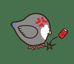 Miss Lovebird-Cute Bird in Valentine sticker #290603