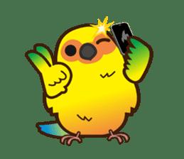 Miss Lovebird-Cute Bird in Valentine sticker #290604