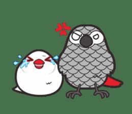Miss Lovebird-Cute Bird in Valentine sticker #290605