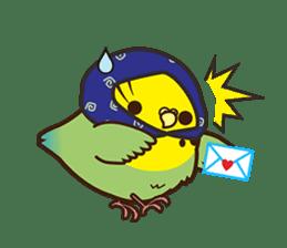 Miss Lovebird-Cute Bird in Valentine sticker #290607