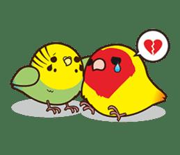Miss Lovebird-Cute Bird in Valentine sticker #290608