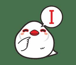 Miss Lovebird-Cute Bird in Valentine sticker #290609