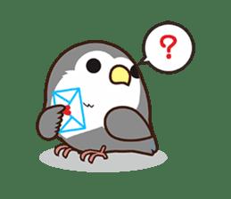 Miss Lovebird-Cute Bird in Valentine sticker #290615