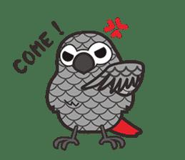 Miss Lovebird-Cute Bird in Valentine sticker #290617