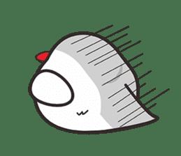 Miss Lovebird-Cute Bird in Valentine sticker #290623