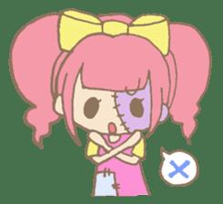 Zombiena and Kuro. sticker #292839
