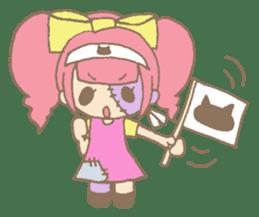 Zombiena and Kuro. sticker #292841